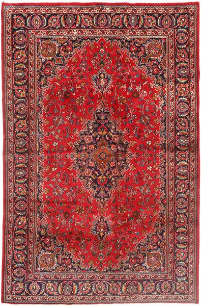 Mashad Matto 190X293 Itämainen Käsinsolmittu Tummanpunainen/Tummanruskea (Villa, Persia/Iran)