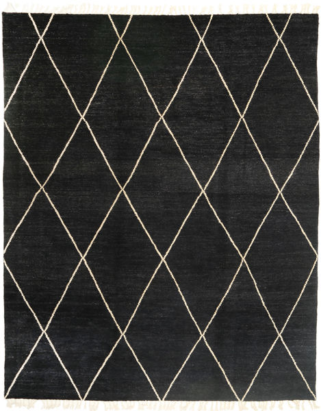 Barchi/Moroccan Berber - Pakistan Matto 244X305 Moderni Käsinsolmittu Musta (Villa, Pakistan)