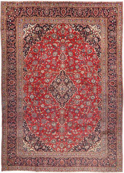 Keshan Matto 290X406 Itämainen Käsinsolmittu Tummanpunainen/Tummanruskea Isot (Villa, Persia/Iran)