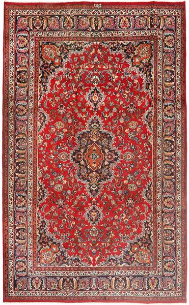 Mashad Matto 193X313 Itämainen Käsinsolmittu Tummanpunainen/Ruoste (Villa, Persia/Iran)