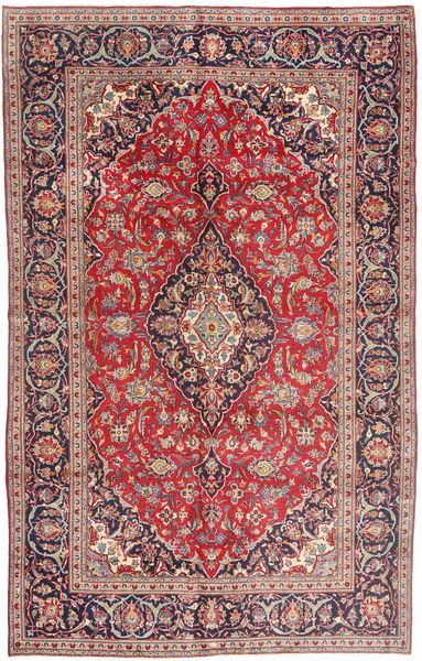 Mashad Matto 198X315 Itämainen Käsinsolmittu Tummanpunainen/Ruskea (Villa, Persia/Iran)