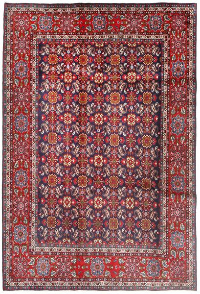 Mahal Matto 198X294 Itämainen Käsinsolmittu Tummanpunainen/Tummanvioletti (Villa, Persia/Iran)