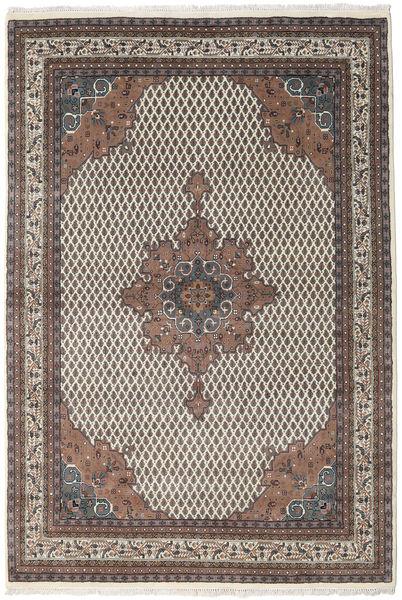 Mir Indo Matto 197X284 Itämainen Käsinsolmittu Vaaleanharmaa/Tummanruskea (Villa, Intia)