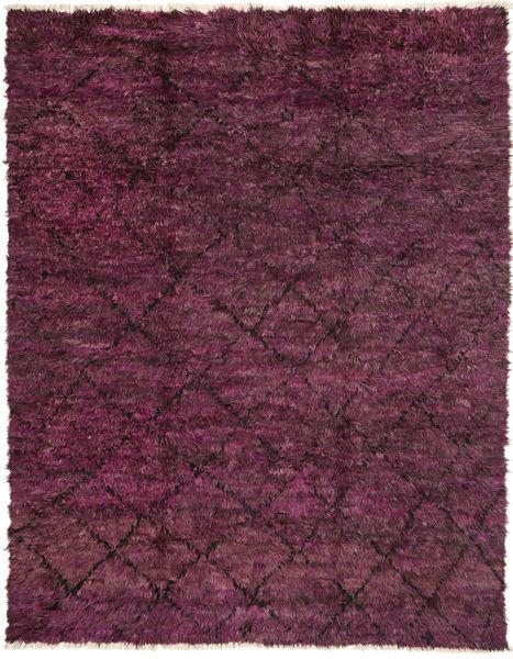 Barchi/Moroccan Berber - Pakistan Matto 239X304 Moderni Käsinsolmittu Tummanpunainen/Violetti (Villa, Pakistan)