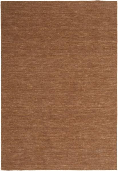 Kelim Loom - Ruskea Matto 200X300 Moderni Käsinkudottu Ruskea (Villa, Intia)