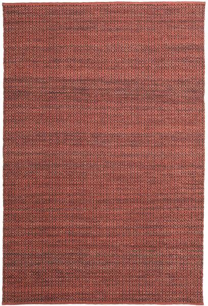 Alva - Dark_Rust/Musta Matto 200X300 Moderni Käsinkudottu Tummanruskea/Tummanpunainen (Villa, Intia)