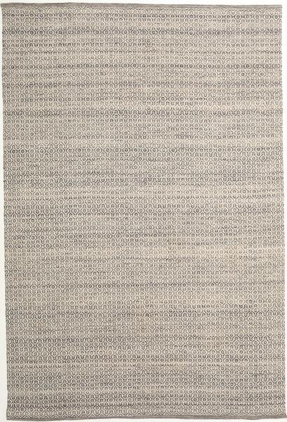 Alva - Ruskea/Valkoinen Matto 200X300 Moderni Käsinkudottu Vaaleanharmaa (Villa, Intia)