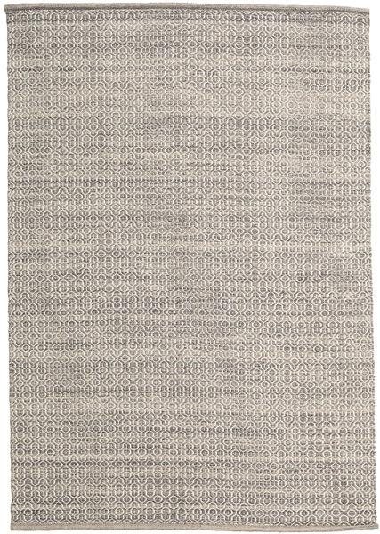 Alva - Ruskea/Valkoinen Matto 160X230 Moderni Käsinkudottu Vaaleanharmaa (Villa, Intia)