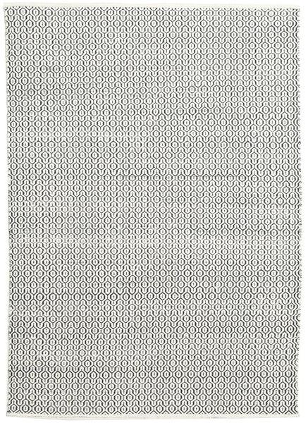 Alva - Valkoinen/Musta Matto 160X230 Moderni Käsinkudottu Vaaleanharmaa/Tummanharmaa (Villa, Intia)