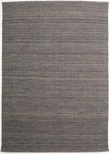 Alva - Ruskea/Musta Matto 250X350 Moderni Käsinkudottu Tummanharmaa/Vaaleanharmaa Isot (Villa, Intia)
