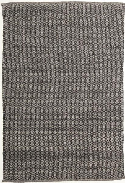 Alva - Ruskea/Musta Matto 160X230 Moderni Käsinkudottu Tummanharmaa/Vaaleanharmaa (Villa, Intia)