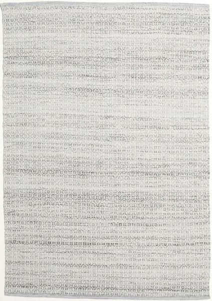 Alva - Harmaa/Valkoinen Matto 160X230 Moderni Käsinkudottu Vaaleanharmaa (Villa, Intia)