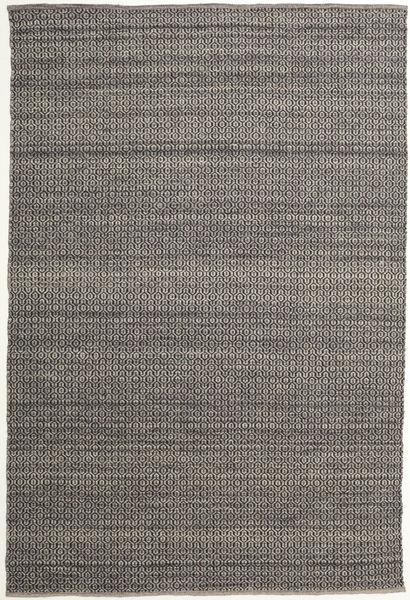 Alva - Ruskea/Musta Matto 200X300 Moderni Käsinkudottu Tummanharmaa/Vaaleanharmaa (Villa, Intia)