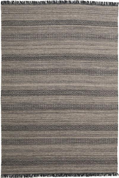 Hedda - Ruskea Matto 220X320 Moderni Käsinkudottu Tummanharmaa/Vaaleanharmaa (Villa, Intia)