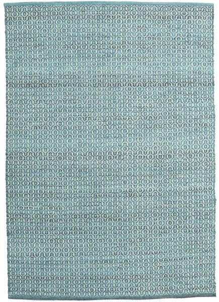 Alva - Turquoise/Valkoinen Matto 140X200 Moderni Käsinkudottu Vaaleansininen/Siniturkoosi (Villa, Intia)