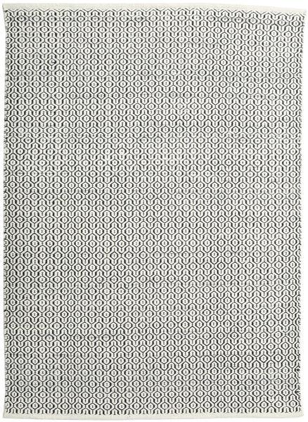 Alva - Valkoinen/Musta Matto 140X200 Moderni Käsinkudottu Tummanharmaa/Vaaleanharmaa (Villa, Intia)