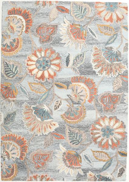 Rusty Flowers - Harmaa/Ruoste Matto 160X230 Moderni Vaaleanharmaa/Beige (Villa, Intia)