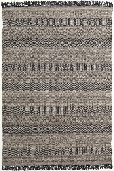 Hedda - Ruskea Matto 160X230 Moderni Käsinkudottu Tummanharmaa/Vaaleanharmaa (Villa, Intia)