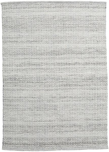 Alva - Harmaa/Valkoinen Matto 140X200 Moderni Käsinkudottu Vaaleanharmaa (Villa, Intia)