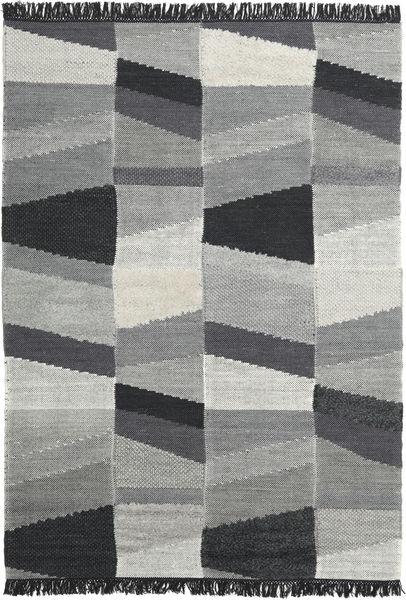 Viola - Harmaa/Musta Matto 160X230 Moderni Käsinkudottu Tummanharmaa/Siniturkoosi (Villa, Intia)