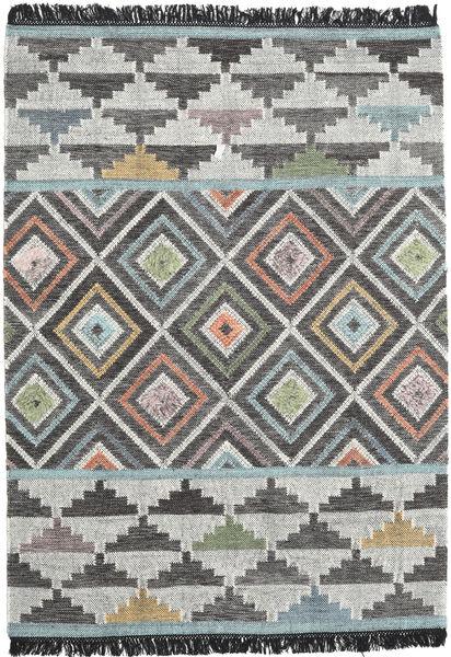 Iris Matto 160X230 Moderni Käsinkudottu Tummanharmaa/Vaaleanharmaa (Villa, Intia)