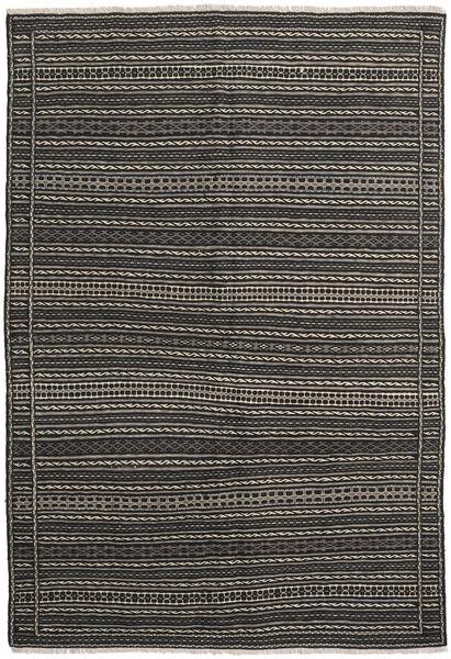 Kelim Matto 160X232 Itämainen Käsinkudottu Tummanharmaa/Musta (Villa, Persia/Iran)
