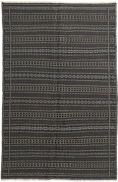 Kelim Matto 152X235 Itämainen Käsinkudottu Tummanharmaa/Musta (Villa, Persia/Iran)