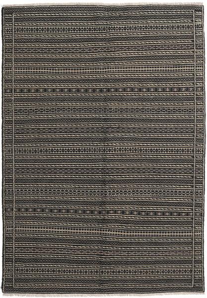 Kelim Matto 169X238 Itämainen Käsinkudottu Tummanharmaa/Vaaleanharmaa (Villa, Persia/Iran)