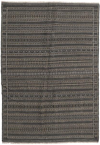 Kelim Matto 159X227 Itämainen Käsinkudottu Tummanharmaa/Musta (Villa, Persia/Iran)