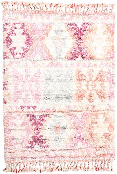 Märta - Roosa Matto 120X180 Moderni Käsinsolmittu Beige/Vaaleanpunainen (Villa, Intia)
