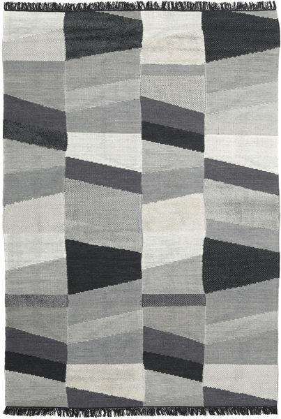 Viola - Harmaa/Musta Matto 200X300 Moderni Käsinkudottu Vaaleanharmaa/Musta (Villa, Intia)