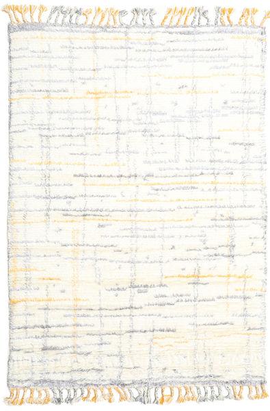 Rakel Matto 160X230 Moderni Käsinsolmittu Beige/Valkoinen/Creme (Villa, Intia)