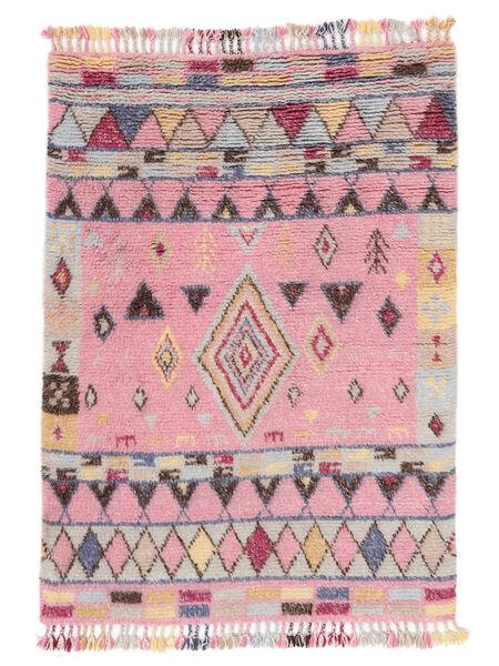 Fanny Matto 160X230 Moderni Käsinsolmittu Vaaleanpunainen/Vaaleanharmaa (Villa, Intia)