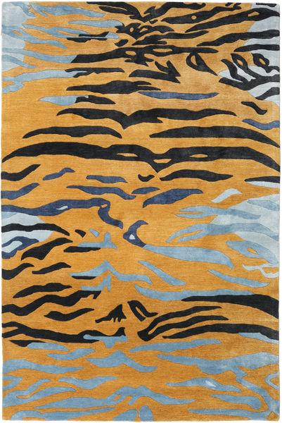 Love Tiger - Oranssi/Harmaa Matto 250X350 Moderni Vaaleanruskea/Musta Isot ( Intia)