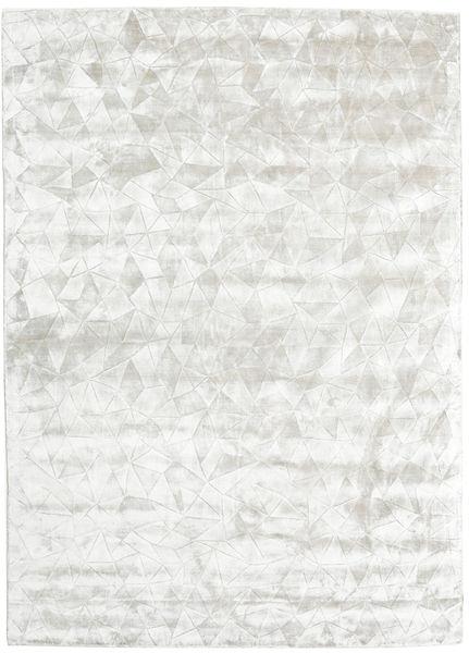 Crystal - Hopeavalkoinen Matto 210X290 Moderni Vaaleanharmaa/Beige ( Intia)