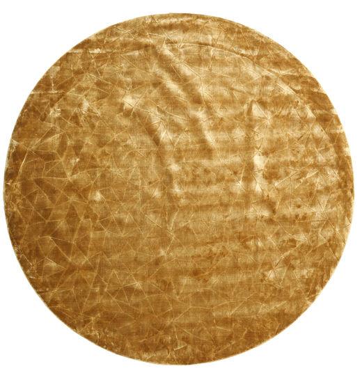 Crystal - Kulta Matto Ø 250 Moderni Pyöreä Vaaleanruskea/Tummanbeige Isot ( Intia)