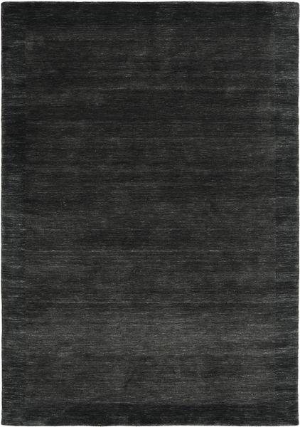 Handloom Frame - Musta/Tummanharmaa Matto 160X230 Moderni Musta/Tummanharmaa (Villa, Intia)