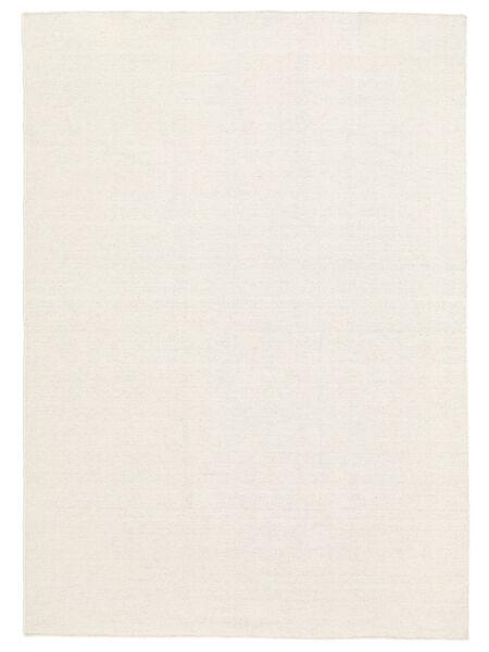 Kelim Loom - Valkea Matto 160X230 Moderni Käsinkudottu Beige (Villa, Intia)