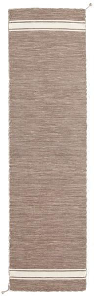 Ernst - Vaaleanruskea/Valkea Matto 80X300 Moderni Käsinkudottu Käytävämatto Vaaleanharmaa (Villa, Intia)