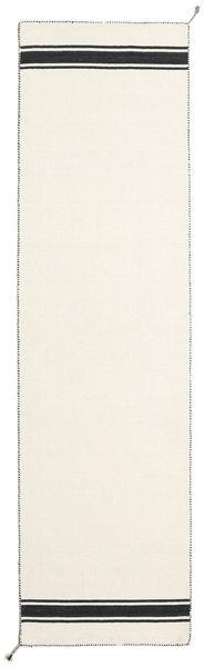 Ernst - Valkea/Musta Matto 0X0 Moderni Käsinkudottu Käytävämatto Beige (Villa, Intia)