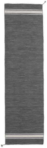Ernst - Tummanharmaa/Vaaleanbeige Matto 80X300 Moderni Käsinkudottu Käytävämatto Tummanharmaa (Villa, Intia)