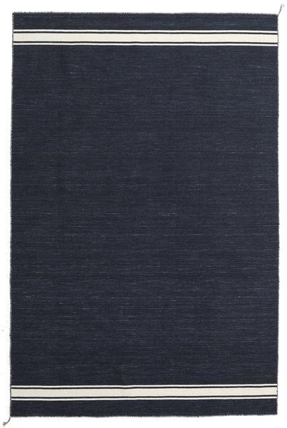 Ernst - Navy/Valkea Matto 200X300 Moderni Käsinkudottu Tummansininen (Villa, Intia)
