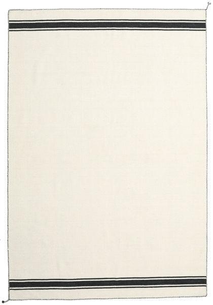 Ernst - Valkea/Musta Matto 200X300 Moderni Käsinkudottu Beige (Villa, Intia)