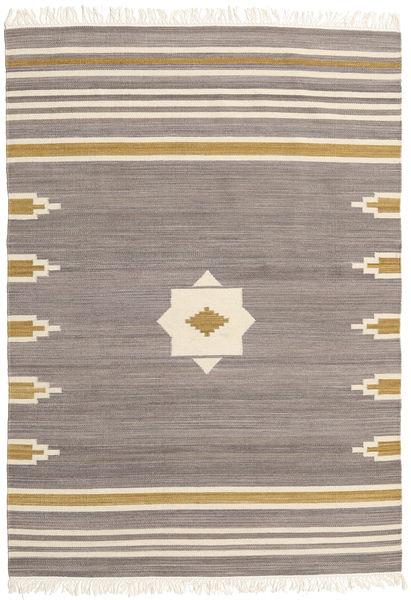Tribal - Harmaa Matto 160X230 Moderni Käsinkudottu Vaaleanharmaa/Beige (Villa, Intia)