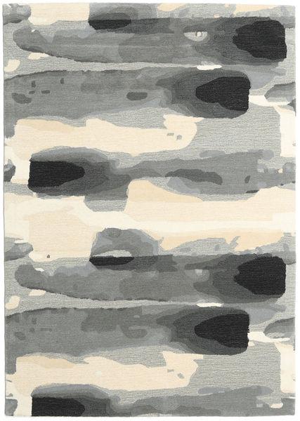 Ink - Harmaa Matto 160X230 Moderni Vaaleanharmaa/Beige (Villa, Intia)