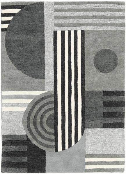 Tilt - Harmaa Matto 160X230 Moderni Vaaleanharmaa/Tummanvihreä (Villa, Intia)