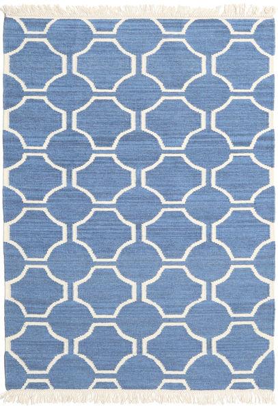 London - Sininen/Valkea Matto 120X180 Moderni Käsinkudottu Sininen/Beige (Villa, Intia)