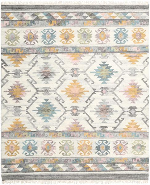 Mirza Matto 250X300 Moderni Käsinkudottu Vaaleanharmaa/Tummanbeige/Beige Isot (Villa, Intia)