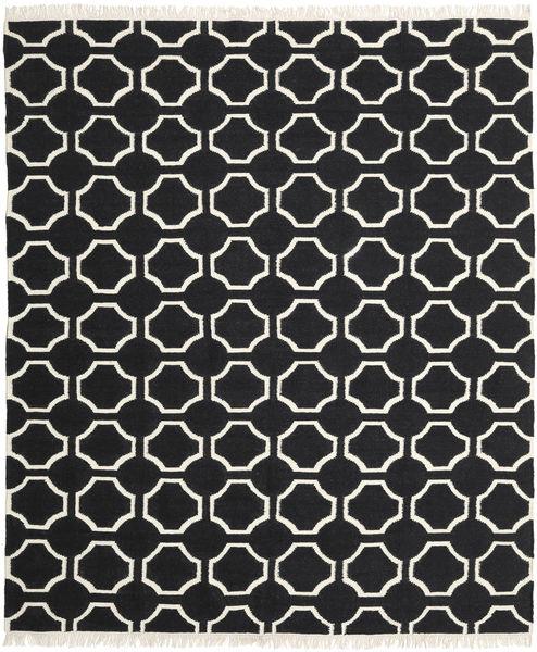London - Musta/Valkea Matto 250X300 Moderni Käsinkudottu Musta Isot (Villa, Intia)