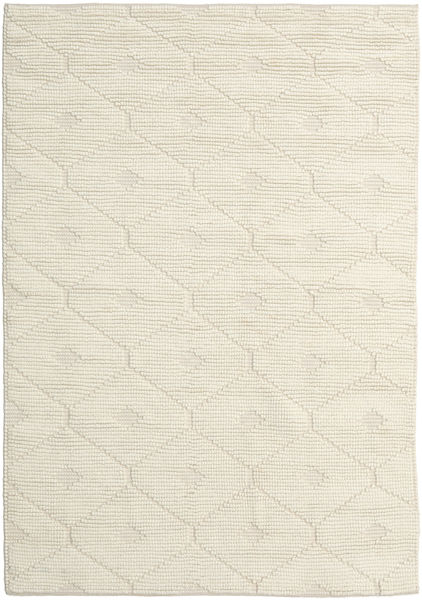 Romby - Off-Valkoinen Matto 160X230 Moderni Käsinkudottu Beige/Tummanbeige (Villa, Intia)